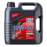 """Масло моторное синтетическое для мотоциклов четырехтактное """"Liqui Moly Motorbike Synth 4T"""" 10W-50 Street Race"""