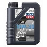 """Масло моторное синтетическое для мотоциклов четырехтактное """"Liqui Moly Motorbike 4T"""" 10W-30 Street"""