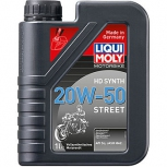 Синтетическое моторное масло для 4-тактных мотоциклов Motorbike HD Synth Street 20W-50
